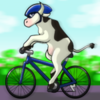 cow on bike