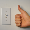 thumbs up light switch